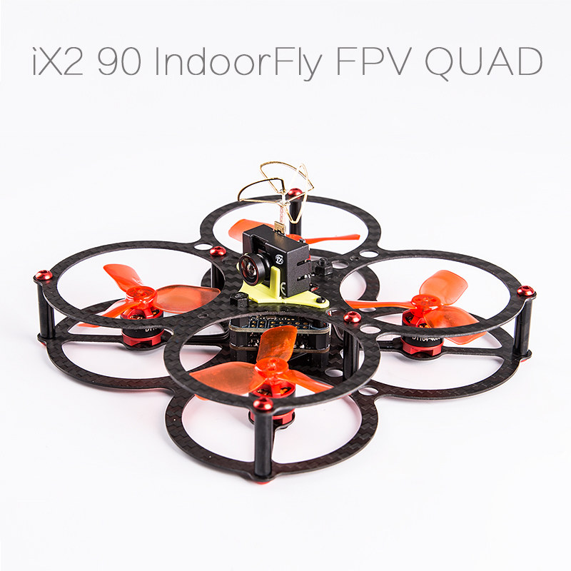 DIY FPV mini drone iflight iX2-90mm indoorfly fpv quadcopter frame kit diy fpv mini drone qav210 quadcopter frame kit pure carbon frame cobra 2204 2300kv motor cobra 12a esc cc3d naze32 10dof