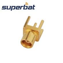 Superbat 10 шт. MCX через отверстие Jack принимающий pcb-разъем коаксиальный РЧ-разъем с припоем