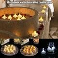 Хит 2019 12 шт водонепроницаемый Свеча Свет Спа плавающий светодиодный мерцающий чай свет свечи QJ888