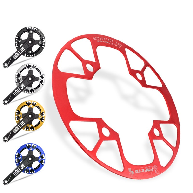 Aluminum Alloy Gear Cover 104BCD MTB Mountain Bike Chain Wheel 32T 34T <font><b>36T</b></font> 38T 40T 42T Bicycle <font><b>Sprocket</b></font> Crank MTB Bike Chainring image