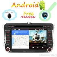 2 din для Skoda/Seat/для Volkswagen Passat/POLO/GOLF Кассетный проигрыватель с функцией записи android 7,1 gps wifi BT управление рулем
