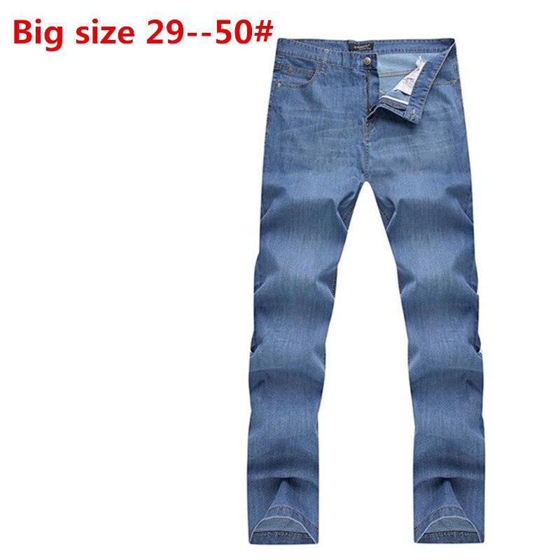 ФОТО Plus Big 48 46 44 42 9XL 8XL 7XL 6XL 5XL spring fashion designer brand men jeans denim casual trousers pants for man