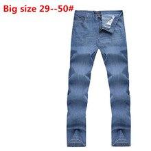 Плюс Большой 48 46 44 42 9XL 8XL 7XL 6XL 5XL весна модельер бренда мужчин джинсы джинсовые брюки случайных брюки для человек
