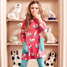 Cute Cartoon Lovely Toddler Baby Girls casual long Sleeve Dress Party Kids girl Autumn Girl Children Clothing