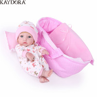 KAYDORA 10 Inch 25 cm Reborn Baby Dolls Newborn Soft Toys Girl Gift All Silicone Reborn Doll Littie Kids