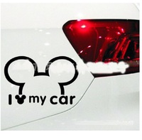 car sticker motorcycle Funny Car Sticker Cute Mickey Minnie Mouse Peeping Cover Scratches Cartoon Rearview Mirror Decal For Motorcycle Vw Bmw Ford Kia (4)