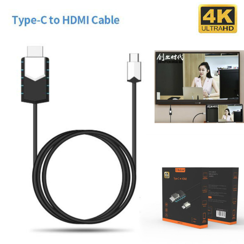 Cable Connect Projection Cell-Phone-To-Tv/gps HDMI Mirscreen New Instant Type-C 1080P title=