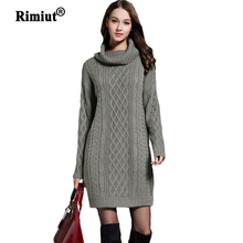 Rimiut 2018 New Arrival Women Loose Knitted Long Autumn Sweater Shirts Fashion Sexy Fit Body Fat MM Autumn Winter Sweaters
