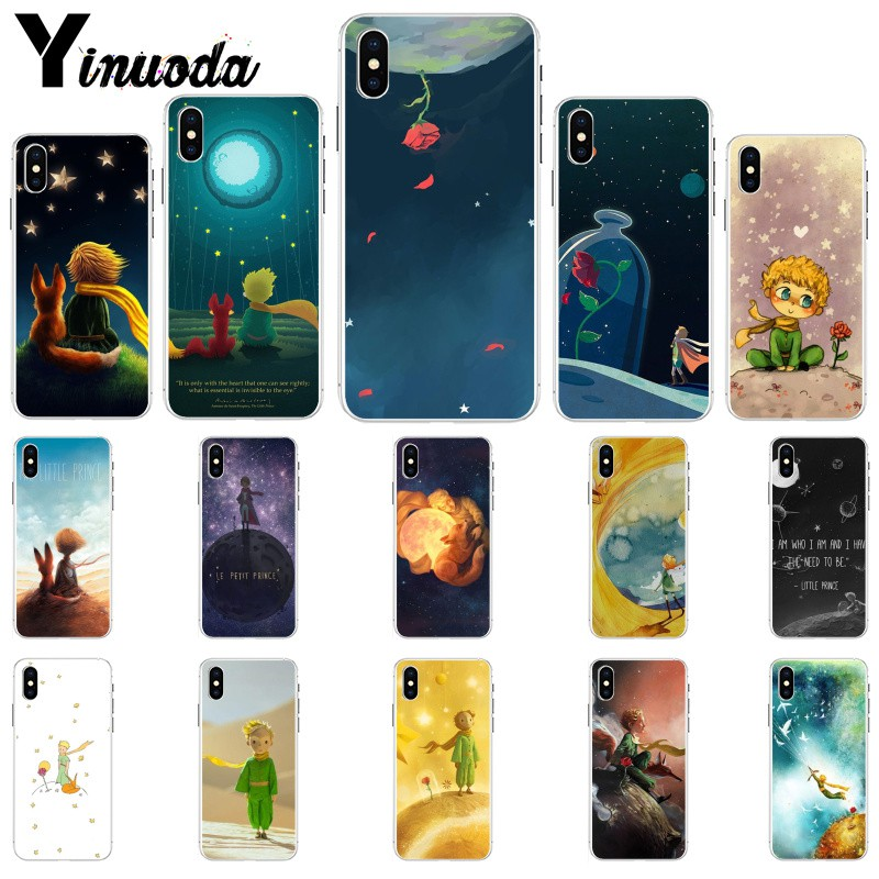 Yinuoda The Little Prince fox On Mint Soft TPU Phone Case for iPhone X XS MAX 6 6s 7 7plus 8 8Plus 5 5S SE XR in Half wrapped Cases from Cellphones Telecommunications