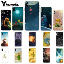 Yinuoda The Little Prince fox On Mint Soft TPU Phone Case for iPhone X XS MAX  6 6s 7 7plus 8 8Plus 5 5S SE XR
