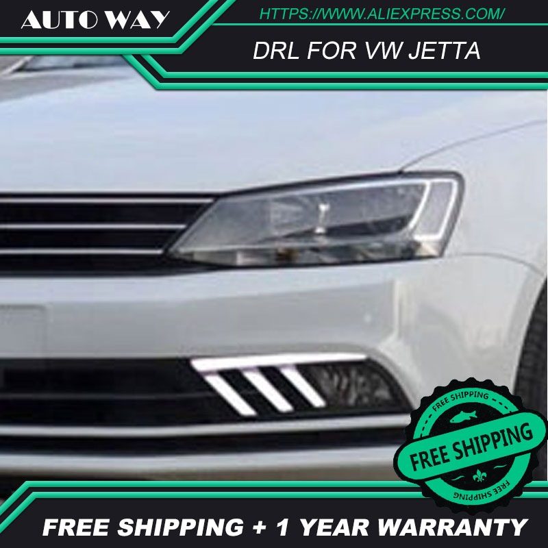Free shipping ! 12V 6000k LED DRL Daytime running light case for VW Jetta 2016-2018 fog lamp frame VW Jett Fog light Car styling free shipping 2pc lot car styling car led lamp canbus fog lamps for vw passat 3g2