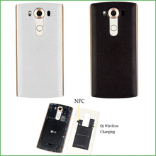 Высокое Качество Для LG V10 Натуральная Кожа Case Корпус Батареи задняя Крышка или LG V10 с Ци Беспроводной Зарядки и NFC