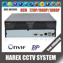 8-канальный/4-канальный Onvif несколько языков аудио вход HDMI Сетевой видеорегистратор HD720P/960 P/1080 P NVR для ip-камеры