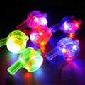Multi Color Flashing Party Whistle with rope lGrowing Noise Maker Party Whistle Supply LED Toys cotillon led Lighting