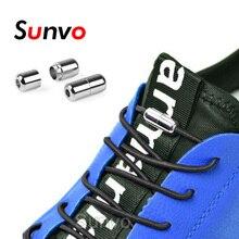 2PCS Lazy Shoelaces Elastic Round No Tie Shoe Laces Quick Locking Buckle Shoelace Kids Adult Sneaker