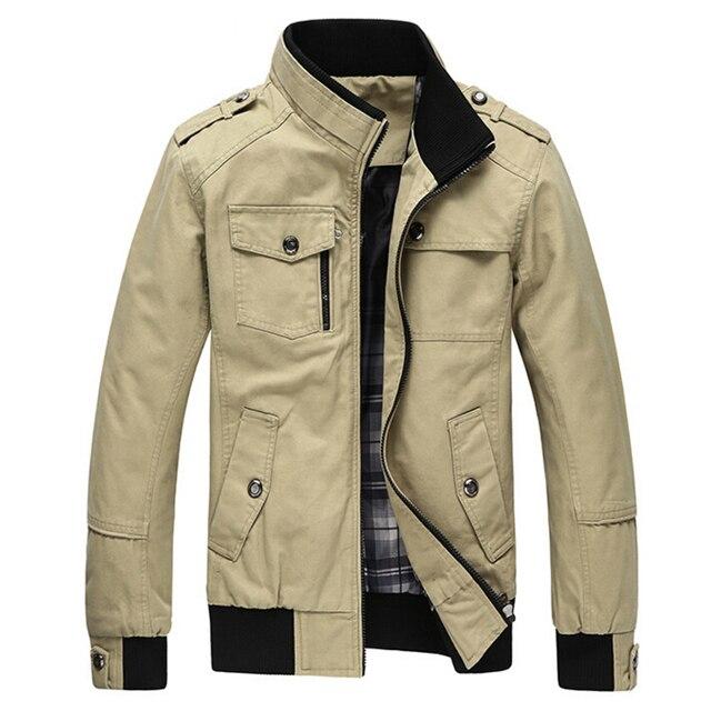 Jacket Men`s Casual Jacket Cotton Stand Collar Coats Army Military Men jacket Coat male casaco jaqueta masculina Coats