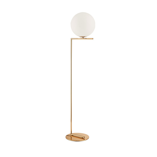 Nordic glass ball floor lamps art gold body round ball lamparas de nordic glass ball floor lamps art gold body round ball lamparas de pie for home indoor mozeypictures Images