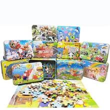100 штук деревянный пазл животное Мультяшные головоломки деревянные головоломки ребенка раннее развитие детей развивающие игрушки