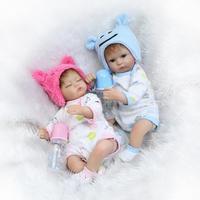 Reborn dolls for baby toys 1640cm soft silicone reborn baby dolls real newborn baby twin looking child bebe gift reborn boneca