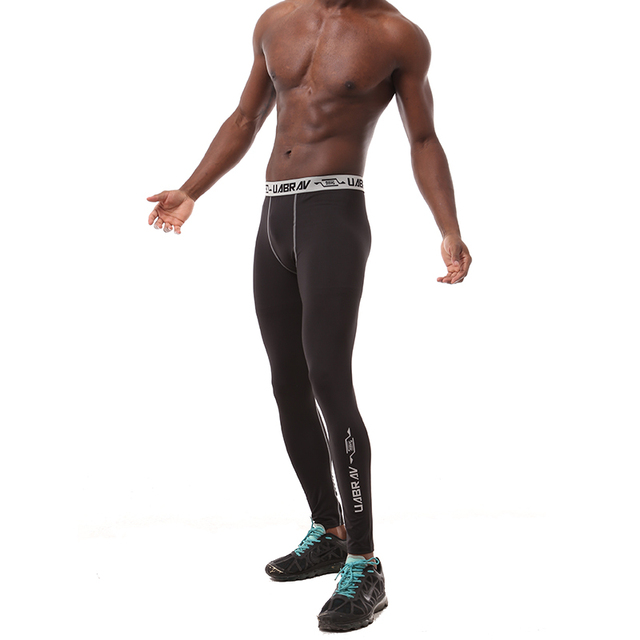 f03a38af5f Black Quick-drying mens pants tight fitness legging brand compression mens  joggers sweatpants Bodybuilding pants