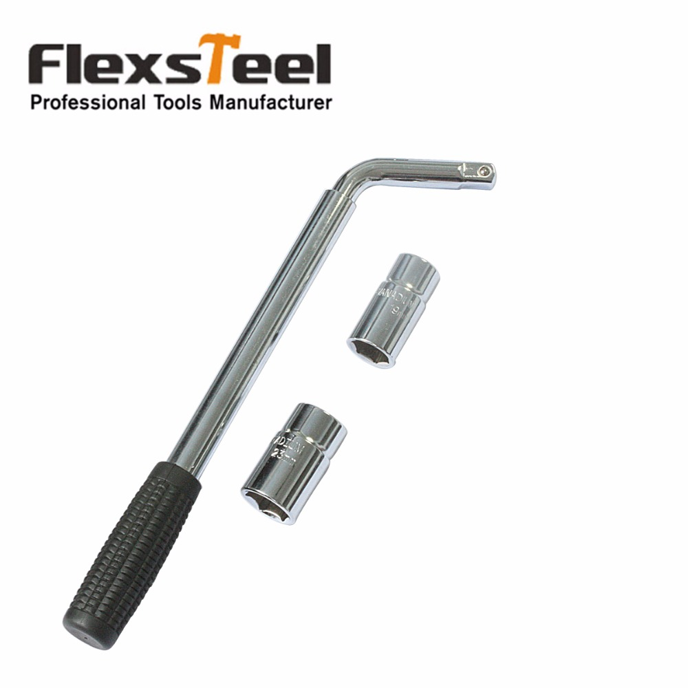 High quality Telescopic Wheel Wrench Lug Wrench Telescoping Power Wrench With Two Standard Sockets 17,19,21,23MM