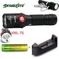 Супер Яркий Zoom 5 Режим CREE XM-T6 LED USB Аккумуляторная Фонарик Факел Лампы lanterna + 18650 аккумулятор + зарядное устройство