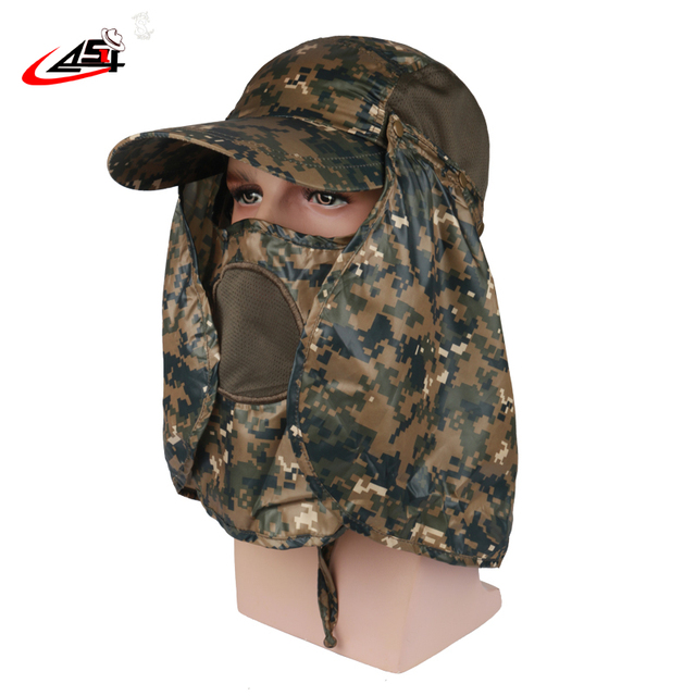 d594e4f0812 Asy Direct selling Camo Anti Insect Outdoors Research Bucket Hat Waterproof  4 Methods To Wear Bob Jungle Men Gorras Baseball Cap
