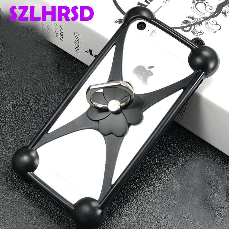 SZLHRSD para Bluboo S3 caso girar anillo cubierta del teléfono para Bluboo D5 Picasso S8 Lite S8 + suave Universal TPU Bluboo D5 Pro