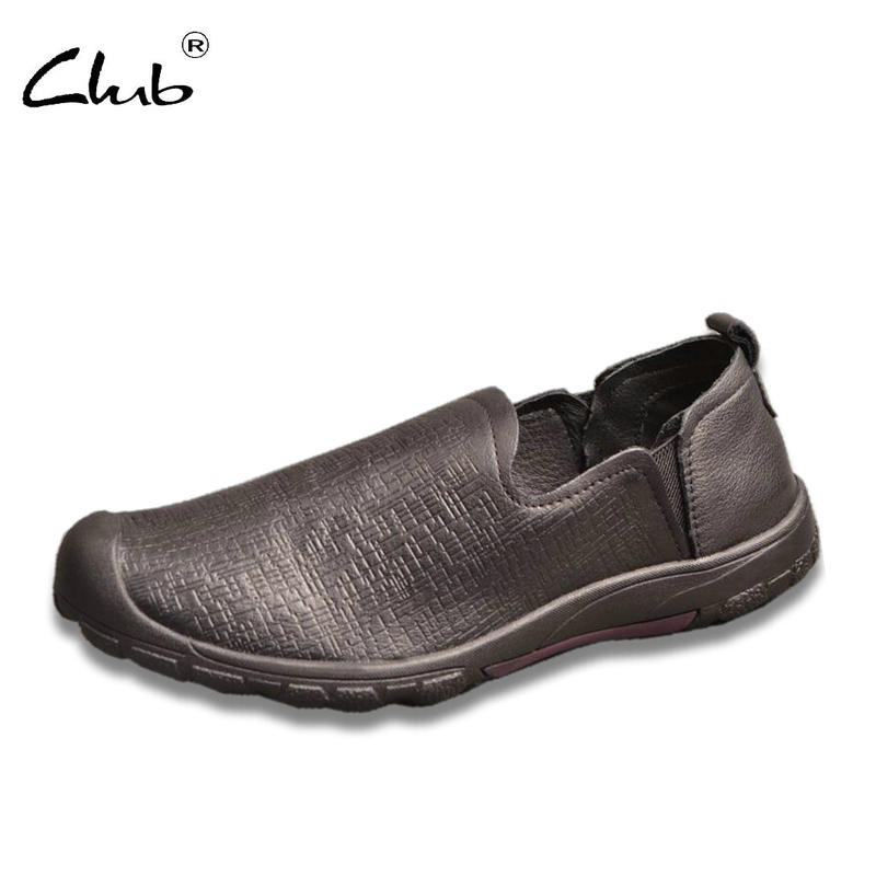 Club 2017 Autumn New Mens Loafers Genuine Leather Casual Shoes Men Slip-on Leather Flats Shoes Zapatillas Hombre Moccasins Men zapatillas hombre 2017 fashion comfortable soft loafers genuine leather shoes men flats breathable casual footwear 2533408w