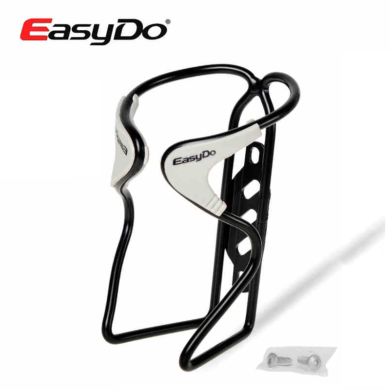 Easydo Aluminum Ultralight Rubber Mat Road MTB <font><b>Bike</b></font> Bicycle Cycling Water Bottle <font><b>Cage</b></font> Holder With <font><b>Bolts</b></font> 3 Colors Accessories image