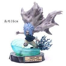 2019 Uchiha Sasuke VS Naruto Susanoo Blauw Nirvana Thunder Vloek Tweede Vorm PVC Action Figure Collection Model Toy 18cm