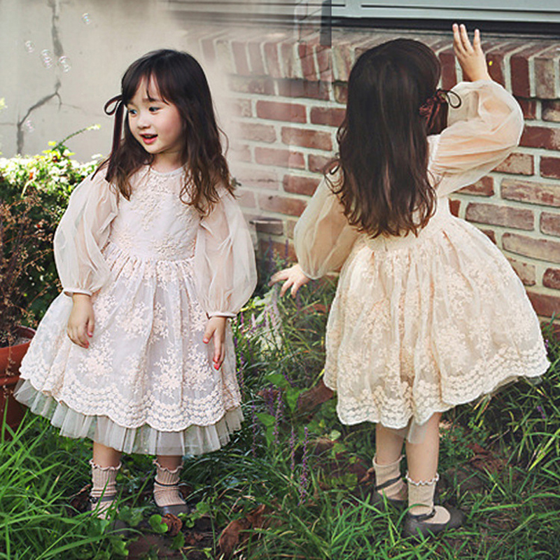 Фото 2018 Real Full Casual New Best Lace Voile Dresses Cotton Autumn Wedding Dress Princess Girl Party Carnival Costumes For Girls
