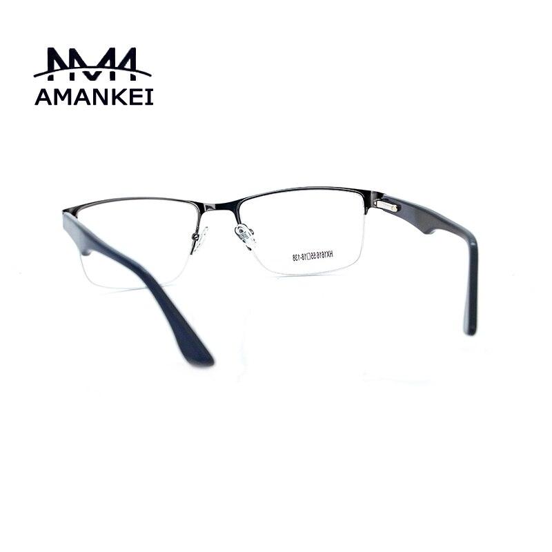 Brushed Metal Silver Eyeglasses Frames Male Glasses Frames Discount ...