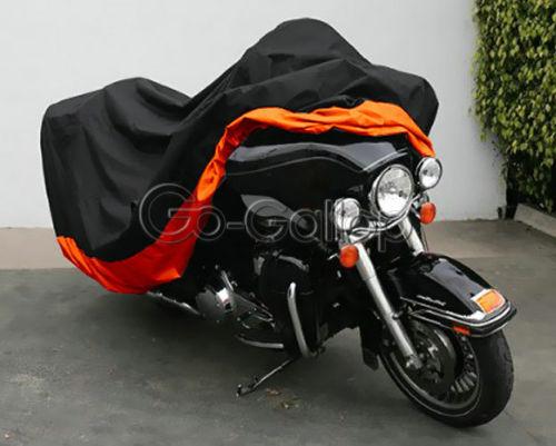 XXXL Orange Motorcycle Cover For Harley Davidson Street Glide Electra Glide Ultra Classic FLHTCU Road King Touring Honda GL