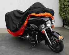 XXXL כתום אופנוע כיסוי להארלי דוידסון סטריט Glide אלקטרה Glide הקלאסי FLHTCU Ultra כביש מלך סיור הונדה GL