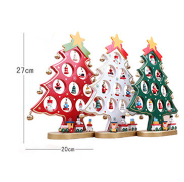 Xmas gift 1pc mini table xmas trees decoration wood christmas tree xmas gift 1pc mini table xmas trees decoration wood christmas tree with ornament for xmas more than 100 tnt free shipping in trees from home garden on negle Choice Image