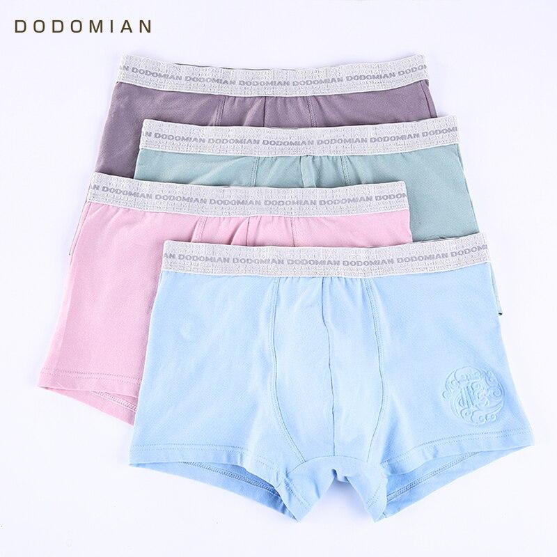 Boxer Men 4Pcs/lot Embossing Boxer Male Wide Wais Underwear Mens Solid Color Underpants Cotton Sexy Breathable Boxer Shorts