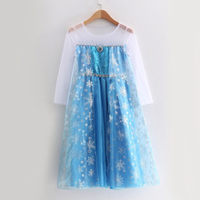 New Elsa Dress Princess Girl Dresses Costumes for Children Fancy Party Anna Role-play Carnival Toddler Girls Clothing