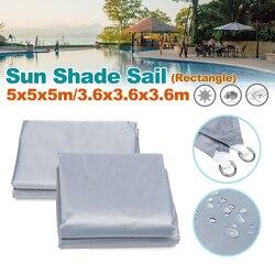 3.6m/5m Triangle Waterproof Sun Shield Shape Awning Cover Cap Outdoor Garden