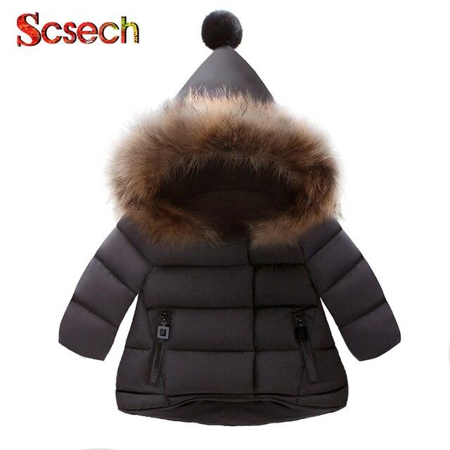 New Baby Girls Boys Jackets Autumn Winter Jacket Kids Warm Hooded Children Outerwear Coat Boys Girls Clothes SKE56