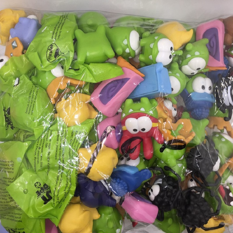 Skyleshine 10pcs/Lot Cut The Rope Frog Games Doll OM NOM Monster Toy Action Figure Cartoon Animie Toys
