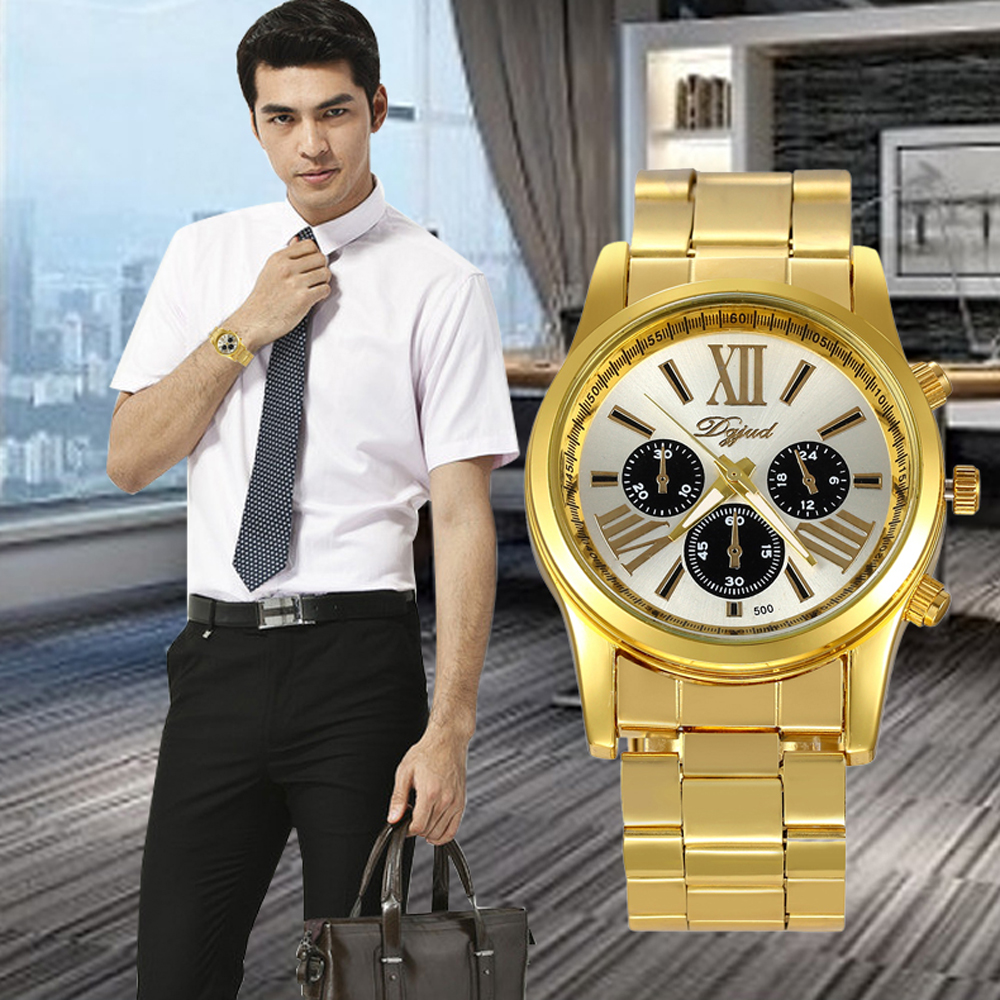 Luxury Men Classic Roman Numerals Watches Relogio Masculino Stainless Steel Bracelet Wrist Watch Mens Diamonds Clock Reloj #Zer migeer relogio masculino luxury business wrist watches men top brand roman numerals stainless steel quartz watch mens clock zer