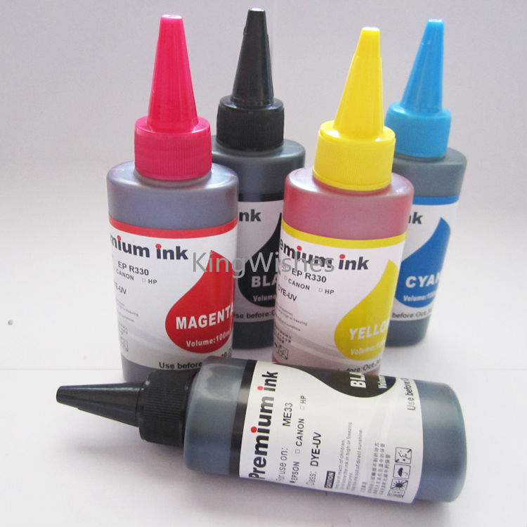 цены  100ML x 5PCS PGI-470 CLI-471 Dye Ink For Canon MG6840 MG5740 Inkjet Printer