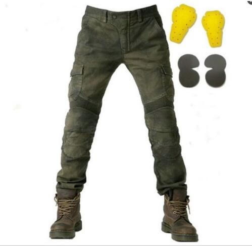 Wholesale for KOMINE Army Green black pants baggy jeans leisure Jeans running version with protection devices