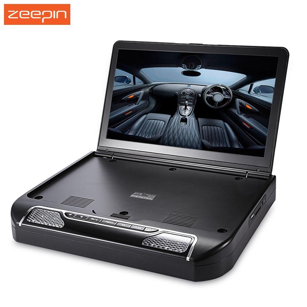 Zeepin 13.3 pouce 1080 p 120 Degrés de Rotation Écran OS-1336D Voiture Multimédia Lecteur FM Télécommande Toit Mount DVD de Voiture lecteur