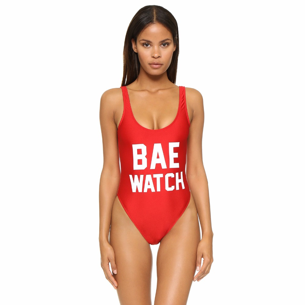 Adogirl 2017 Fashion Letter Printed Backless One Piece Monokini Swim Suits For Women Low Cut Back Swim Wear Female Bathing Suits fashionable strappy printed cut out one piece swimsuit for women