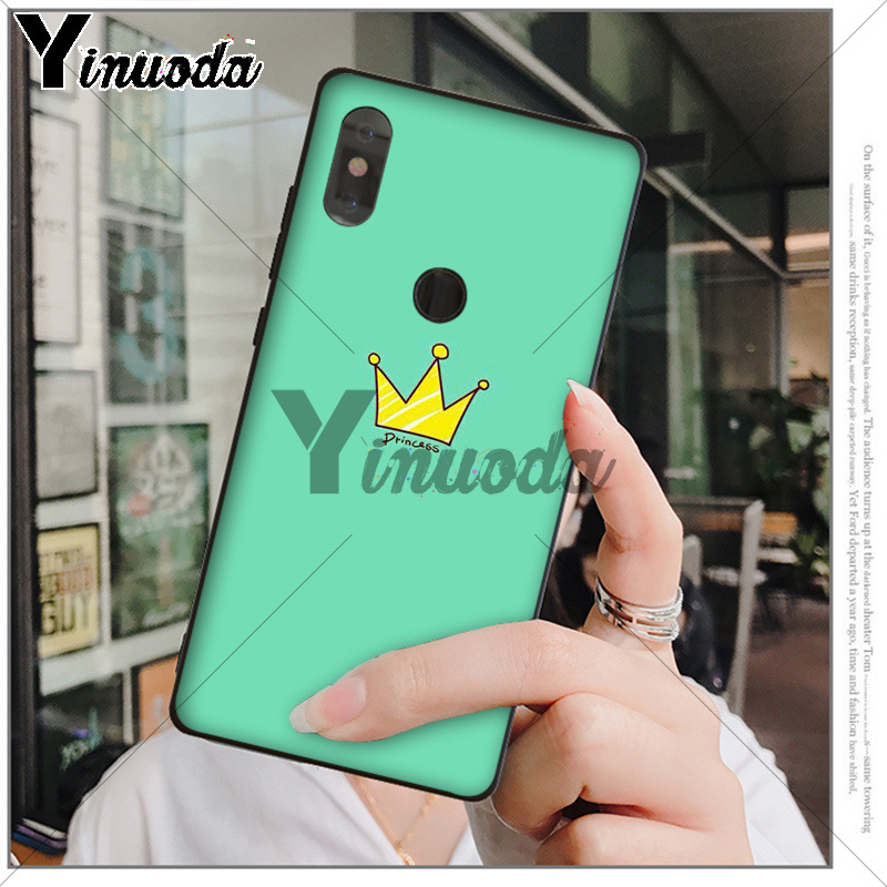 Yinuoda Cartoon Crown King and Queen DIY Printing Phone Shell for xiaomi mi 6  8 se note2 3 mix2 redmi 5 5plus note 4 5 5