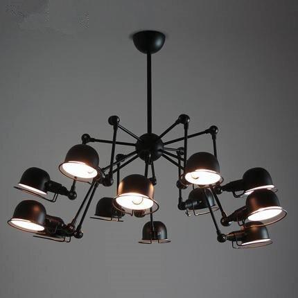 Vintage loft 12 lichten spider kroonluchter verlichting industriële zwart plafondlamp keuken verlichtingsarmaturen luminaria avize lustre.jpg
