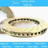 Jekit brake big disc rotors 380*34mm drilled pattern for Brembo AMG 6 pots brake kit