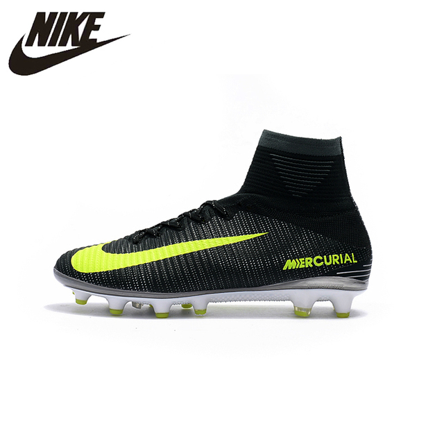 31b96cd0648 NIKE MERCURIAL SUPERFLY V AG Professional Green Logo Soccer Shoes Outdoor  Lawn Mens Football Boots 831955-870 39-45